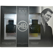 Men - SEDUCTION IN BLACK EDT SPRAY 3.4 OZ & AFTERSHAVE LOTION 3.4 OZ