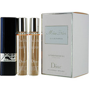 Women - MISS DIOR (CHERIE) EAU DE PARFUM REFILLABLE PURSE SPRAY .67 OZ & TWO EAU DE PARFUM REFILLS .67 OZ EACH