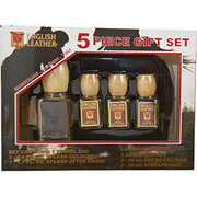 Men - ENGLISH LEATHER COLOGNE .6 OZ (3 PIECES) & AFTERSHAVE 1.7 OZ & TRAVEL BAG (2 PIECES)