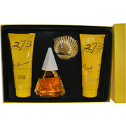 Women - FRED HAYMAN 273 EAU DE PARFUM SPRAY 2.5 OZ & BODY LOTION 6.7 OZ & SHOWER GEL 6.7 OZ & DOUBLE SIDED SHELL MIRROR