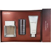 Men - EUPHORIA MEN EDT SPRAY 3.4 OZ & AFTERSHAVE BALM 3.4 OZ & DEODORANT STICK ALCOHOL FREE 2.6 OZ