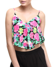 Tanks, Tubes & Camis - Paradise Handkerchief Cropped Tank