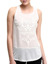 Women - Illusion Print Tank Top