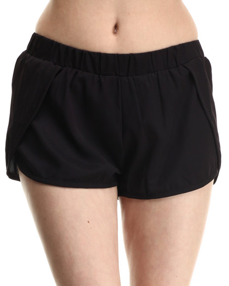 Ali & Kris - Women Black Sweet & Sexy Chiffon Shorts