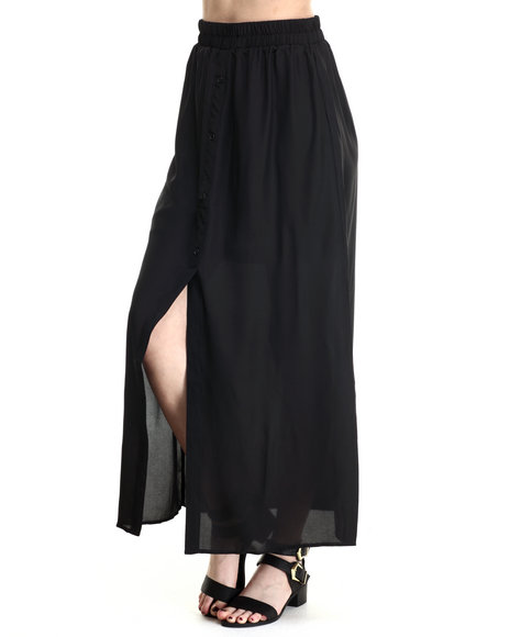 ALI & KRIS - Women Black Favorite Maxi Skirt