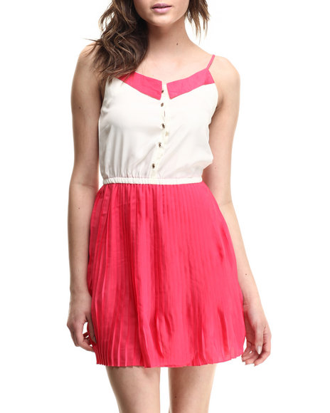 Ali & Kris - Women Off White,Pink Sweatheart Chiffon Dress - $30.00