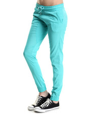 Women - Semi-Drop Crotch Twill Jogger