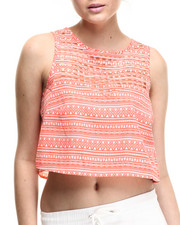 Tops - Open-Back Geo Print Tank Top