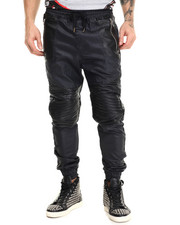 Jeans & Pants - Waxed Denim Stiched Pants