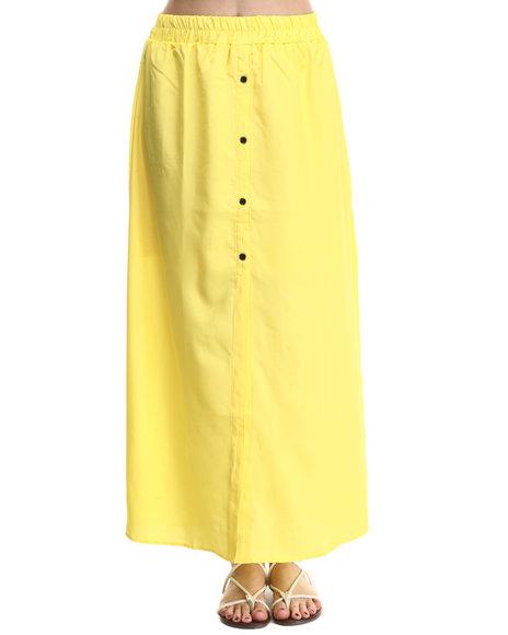 Ur-ID 214207 ALI & KRIS - Women Yellow Favorite Maxi Skirt