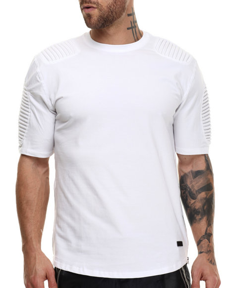 Hudson Nyc - Men White Long Shot Thermo - Knit S/S Tee