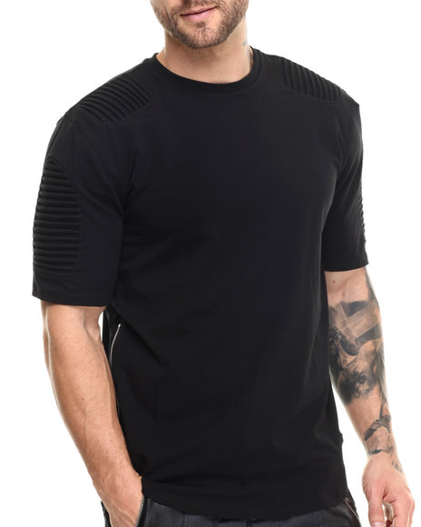 Hudson Nyc - Men Black Long Shot Thermo - Knit S/S Tee