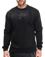Hudson NYC - Stacked Ben Bonded Knit Embossed Crewneck Sweatshirt