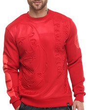 Men - Stacked Ben Bonded Knit Embossed Crewneck Sweatshirt
