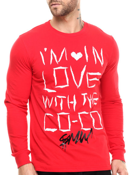S - M - W - Men Red Love With Coco L/S Tee