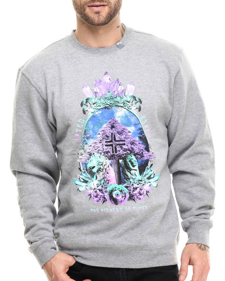 Lrg - Men Grey Highest Of Times Crewneck Sweatshirt