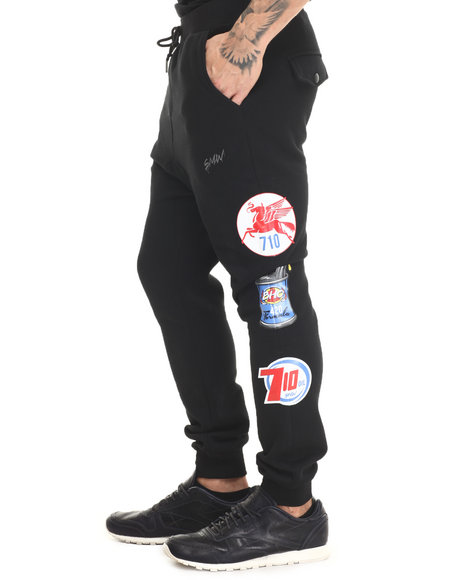S - M - W - Men Black S M W Petrol Fleece Joggers