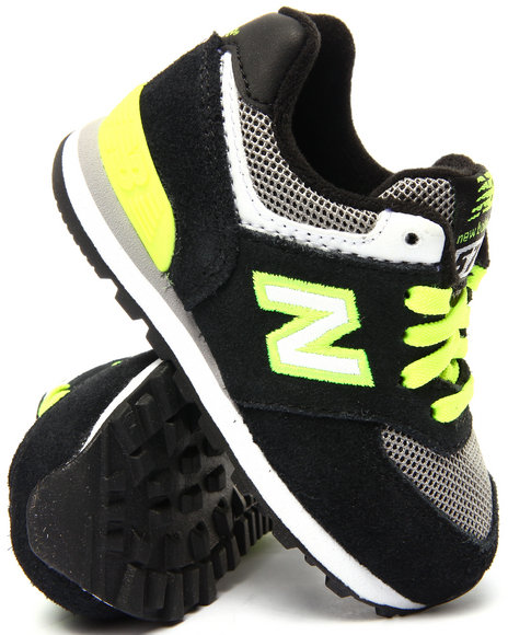 New Balance - Boys Black 574 Sneakers (5-10)