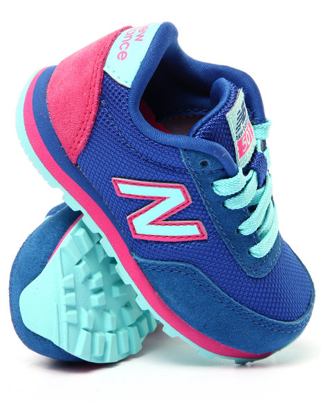 New Balance - Girls Blue 501 Sneakers (Infant)