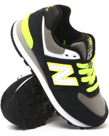 New Balance - Boys Black 574 Core Plus Sneakers (11-3)