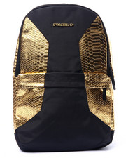 Backpacks - Black and Gold Snake Mamba Backpack