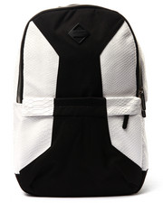 Men - Cut & Sew White Backpack