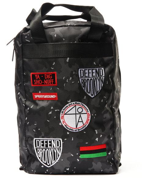 Sprayground Men Spike Patches Backpack Black