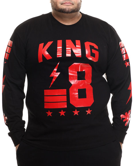 Basic Essentials - Men Black King's Court L/S Tee (B&T)