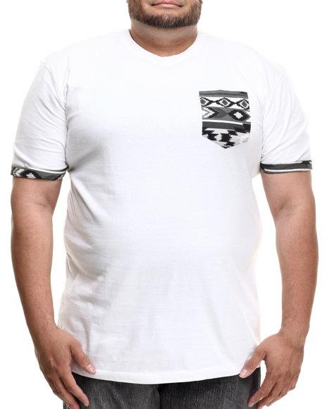 Akademiks - Men White Hampton Pocket S/S Tee (B&T) - $11.99