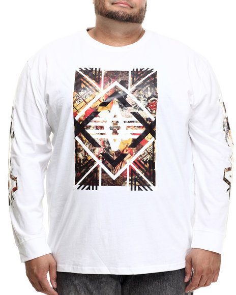 Akademiks - Men White Axe L/S Shirt (B&T) - $13.99