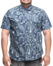 Akademiks - Festival Paisley s/s button down shirt (B&T)