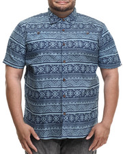 Akademiks - Sculpt Tribal s/s button down shirt (B&T)