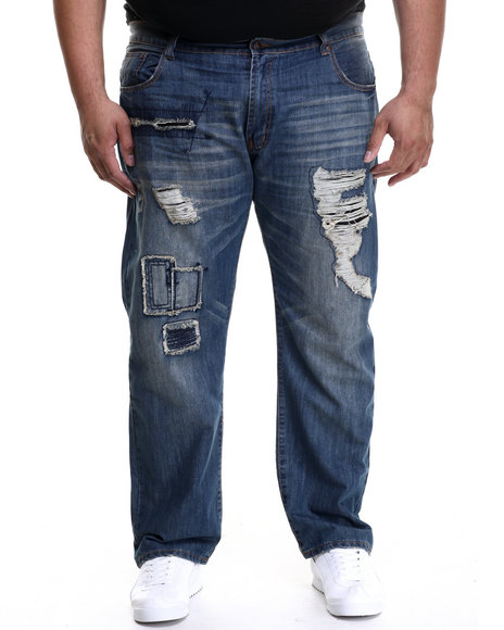 Akademiks - Men Indigo Pitkin Washed Denim Jeans (B&T)