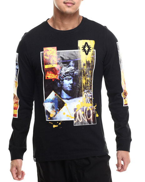 Akademiks - Men Black Roarer L/S Shirt