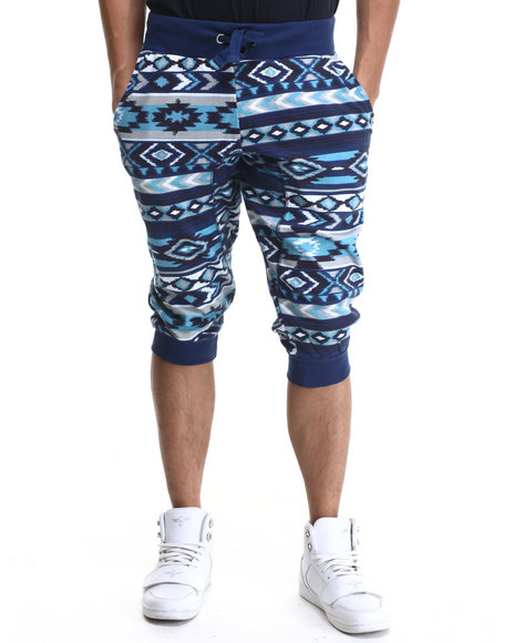 Akademiks - Men Blue Hartland Jogger Shorts - $17.99
