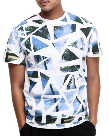 Akademiks - Men White Kent Tropical S/S Tee