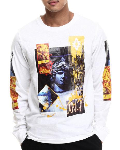 Akademiks - Men White Roarer L/S Shirt - $36.00