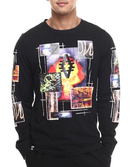 Akademiks - Men Black Magnifico L/S Shirt - $32.99