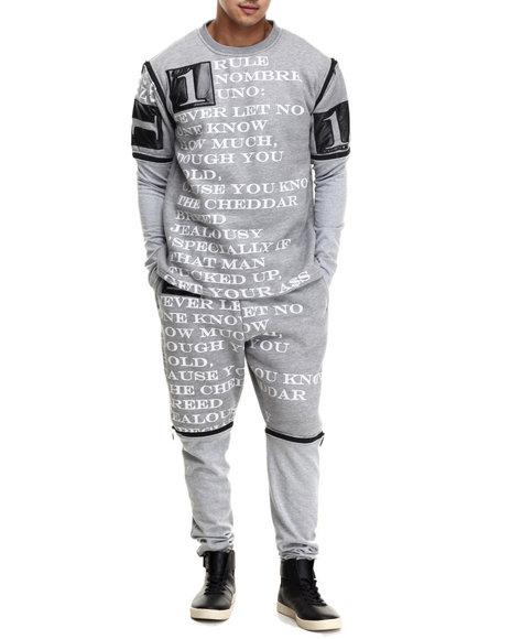 Buyers Picks - Men Grey #1 Biggie Verse Fleece Set