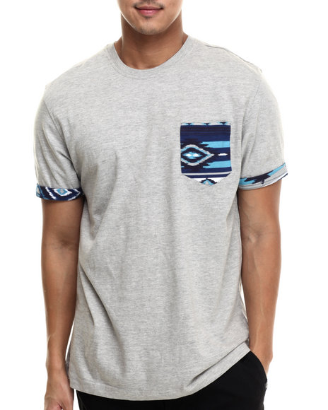 Akademiks - Men Grey Hampton Pocket S/S Tee