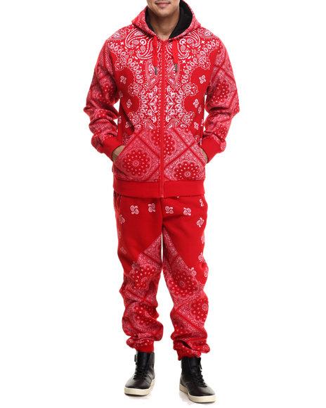 Buyers Picks - Men Red Bandana Print Fleece Set - $120.00