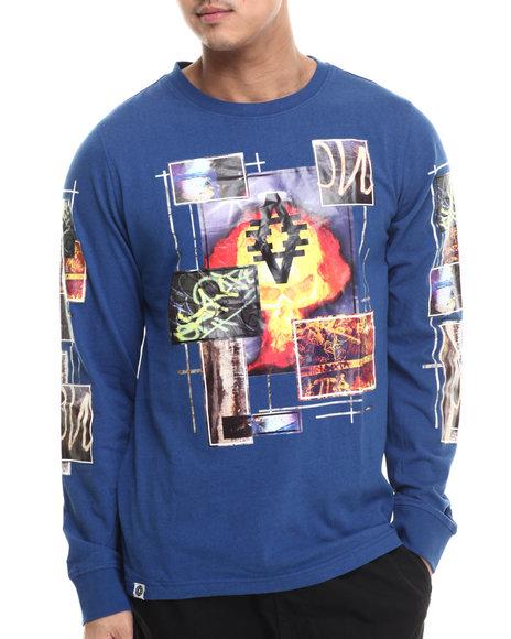 Akademiks - Men Blue Magnifico L/S Shirt