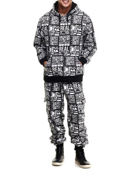 Buyers Picks - Men Black Do Real Things Fleece Set - $120.00