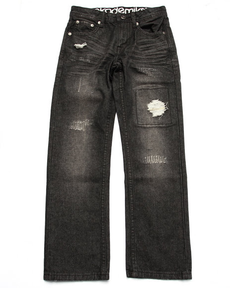 Akademiks - Boys Black Distressed Jeans (8-20)