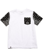 Sizes 8-20 - Big Kids - BANDANA POCKET TEE (8-20)
