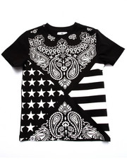 Sizes 8-20 - Big Kids - BANDANA ALL OVER PRINT TEE (8-20)