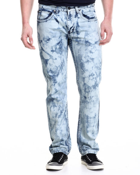 Ur-ID 214289 Akademiks - Men Indigo Stage Washed Denim Pants