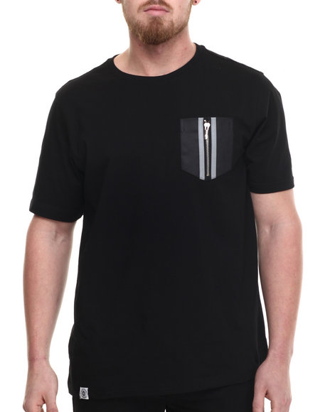 Akademiks - Men Black Cahil Reflective Detailed S/S Tee - $25.00