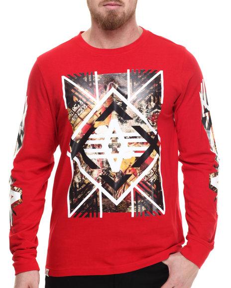 Akademiks - Men Red Axe L/S Shirt - $36.00
