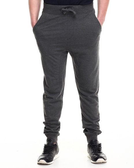 Akademiks - Men Charcoal Flatland French Terry Jogger Pants